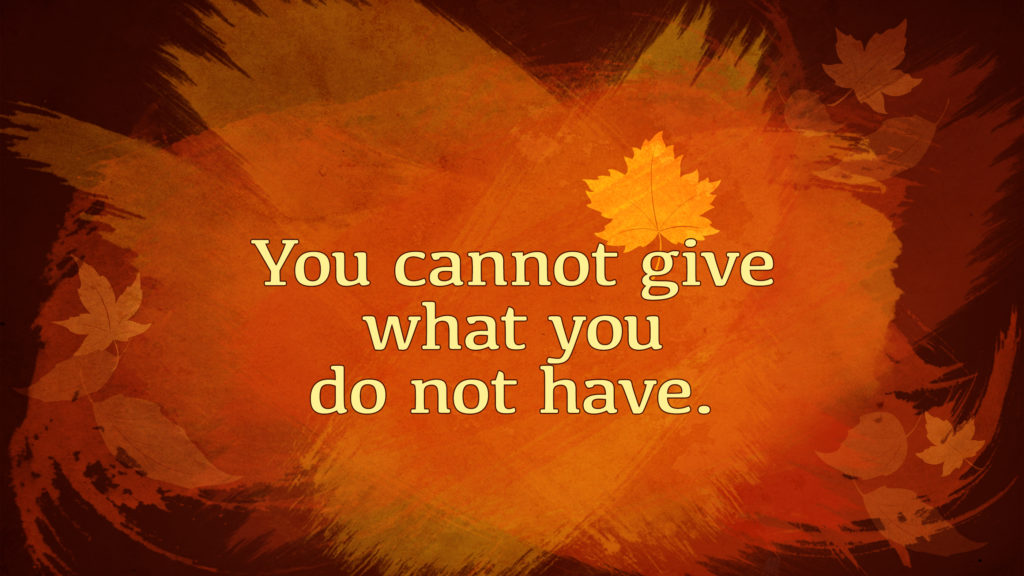 Cannot Give
